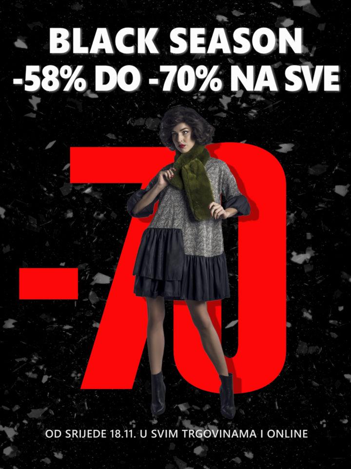 BLACK SEASON -58% DO -70% NA SVE – Od srijede 18.11.